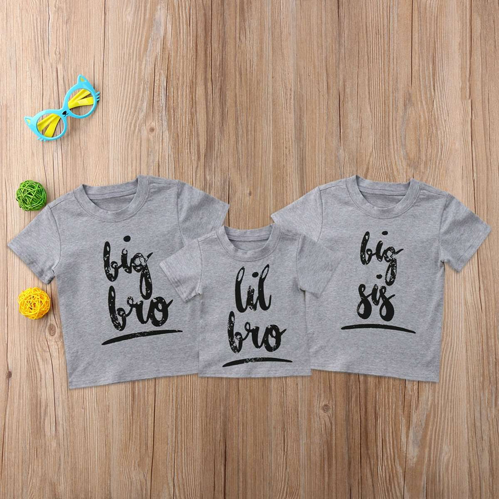 Brothers & Sisters Mix n' Match Script Grey Tees (MRK X)