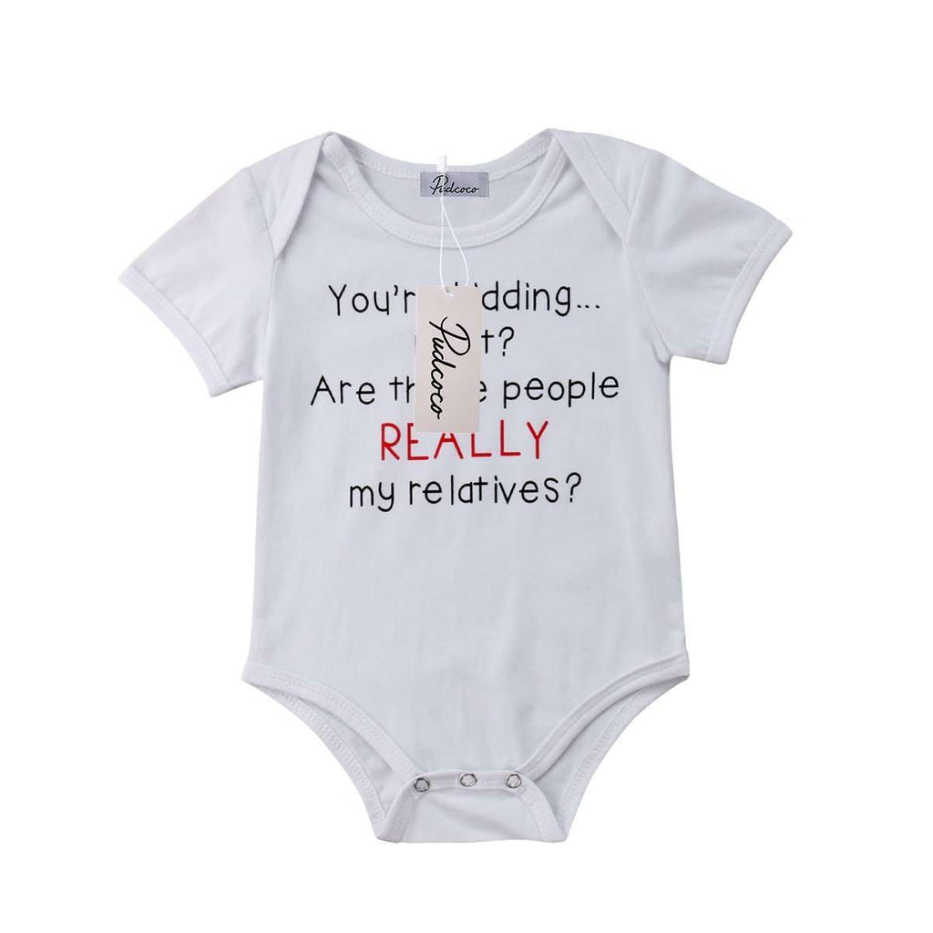 Really My Relatives? White Bodysuit (3-24 Months) (MRK X)