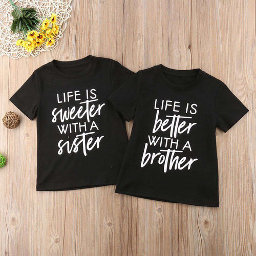 Sweeter With Sister/Better With Brother Matching Tees (MRK X)