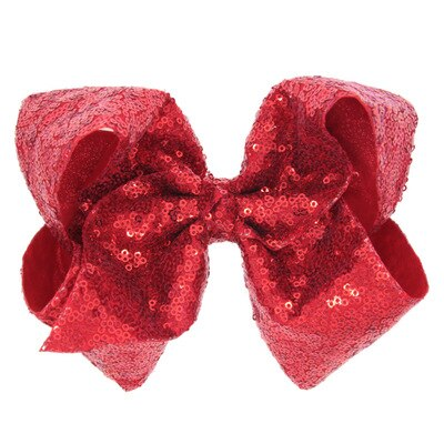 "Joey Large Sequin Bow 8"" (MRK X)"