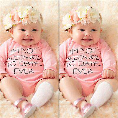 Not Allowed to... Pink Long-Sleeved Bodysuit (0-24 Months) (MRK X)