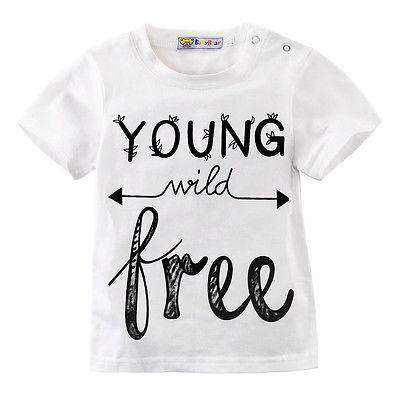 Young Wild Free White T-Shirt (0-5 Years)