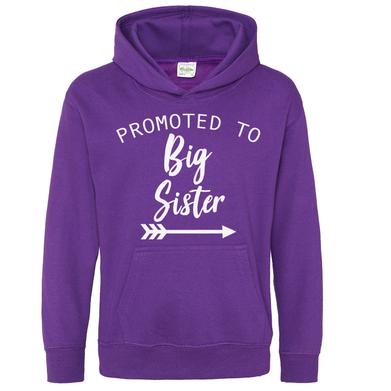Promoted to Big Sister Light Pink Hoodie (MRK X)