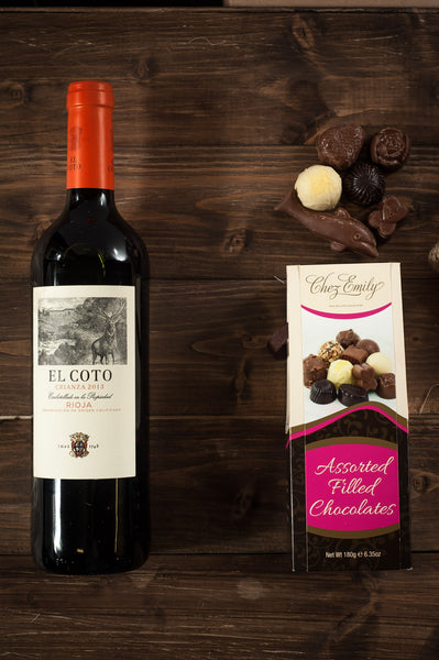 Wine and Chocolates Hamper