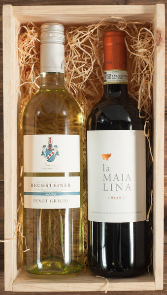 Italian Wine 2 Bottle Gift Set in a Wooden Box