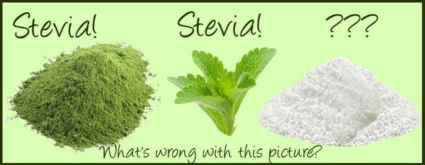 comparison of natural stevia to processed stevia