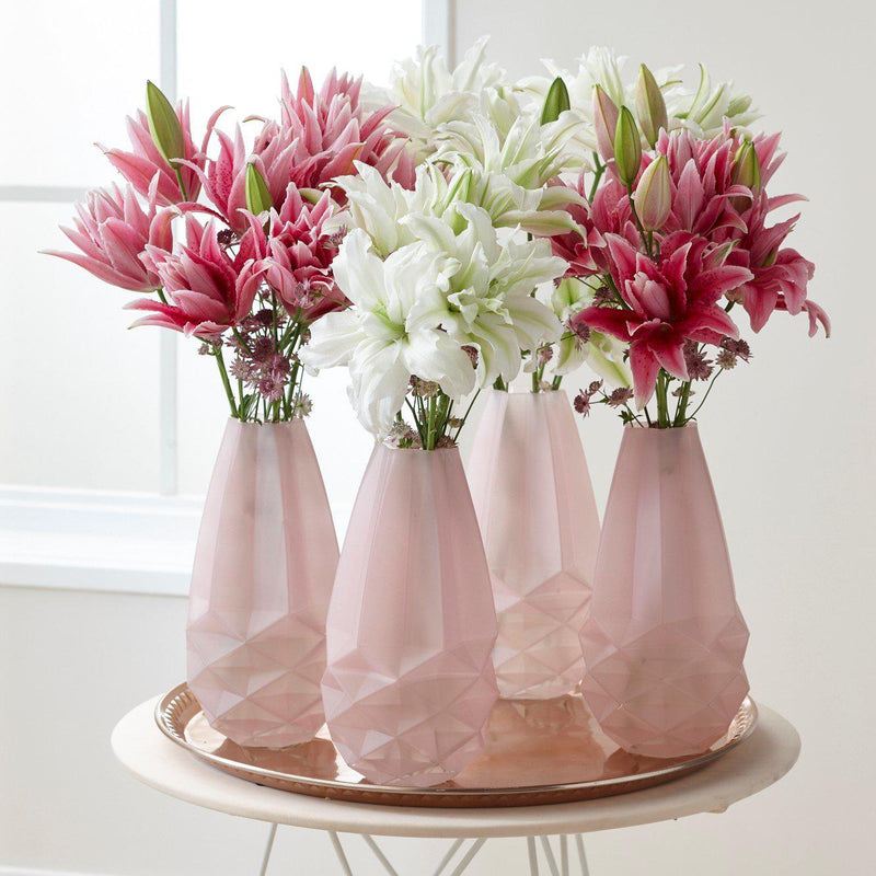 Roselily Flowers in Vases