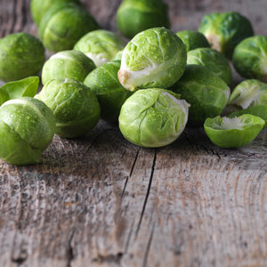 brussel sprouts on table