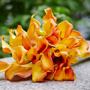 Orange Calla Blaze Bouquet