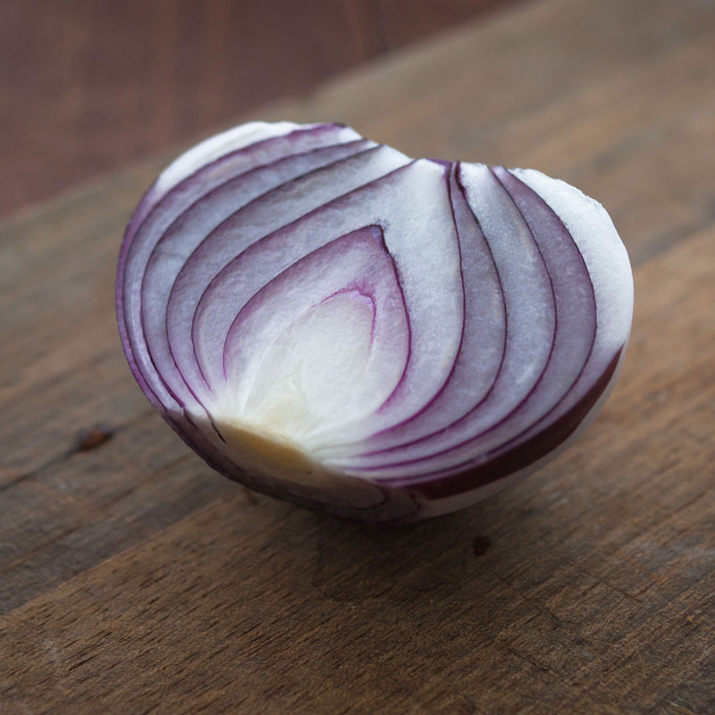 Onion Ruby Ring Sliced on table top