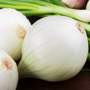 Spanish White Onions on a table top