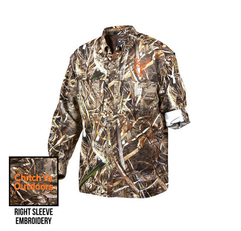 Long Sleeve Camo Button-Down Shirt