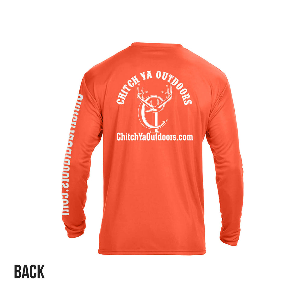 Athletic Orange Chitch-Ya Long Sleeve Performance Tee