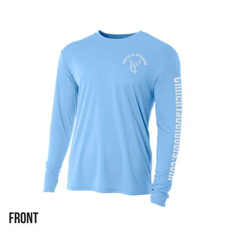 Light Blue Chitch-Ya Long Sleeve Performance Tee