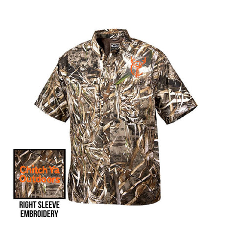 Short Sleeve Camo Button-Down Shirt
