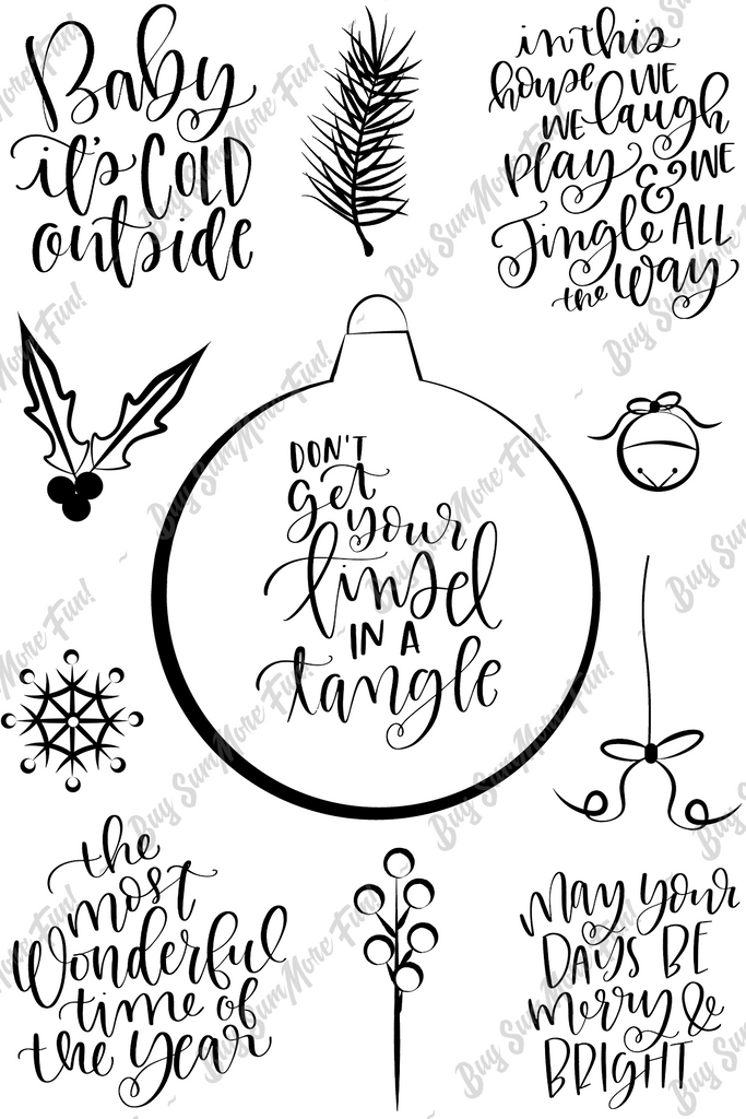 Tangled Tinsel stamp set