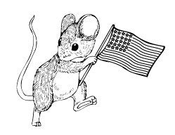 Mouse with Flag (7002-L)