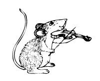 Mouse with Violin (7004-H)