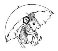 Mouse With Umbrella (7007-H)