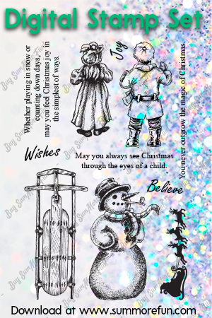 Digital Stamp Set:  Believe in Christmas
