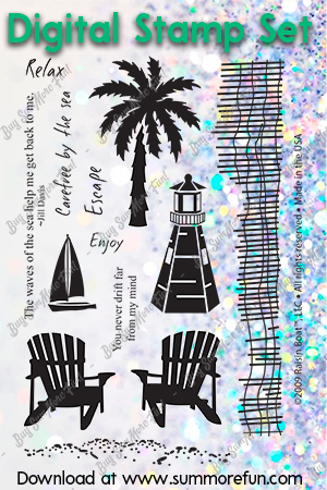 Digital Stamp Set: By the Beach