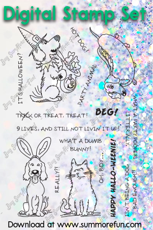 Digital Stamp Set: Canines in Costume (10252-Z)