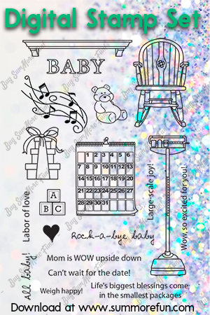 Digital Stamp Set: Goes with Hope Maternity Gal