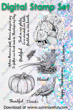 Digital Stamp Set: Happy Thanksgiving