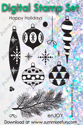 Digital Stamp Set: Holiday Hang Ups