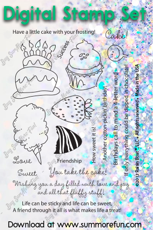 Digital Stamp Set: Icing on the Cake
