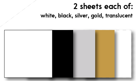 "12"" x 12"" Oracal 631 Vinyl Sheets (10 pack)"