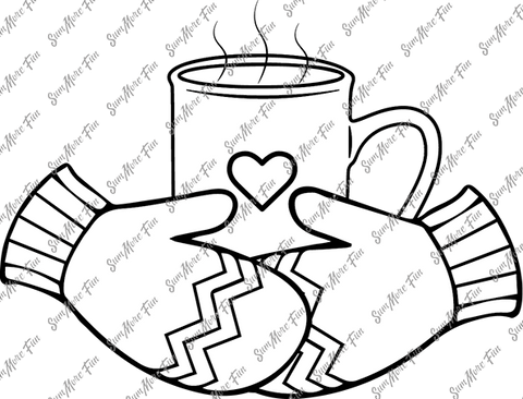 Winter Drink Digital Stamp