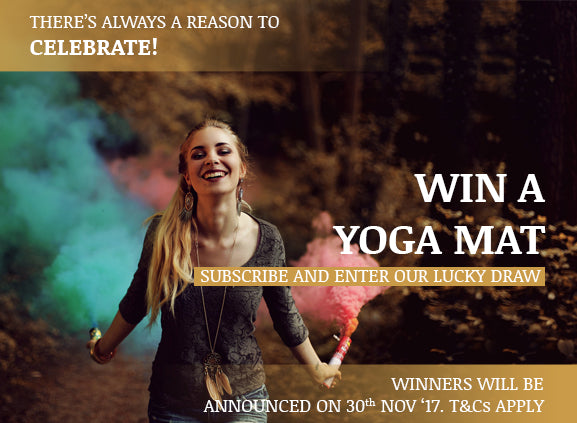 Win a Yoga Mat- Enter our competition & get LUCKY