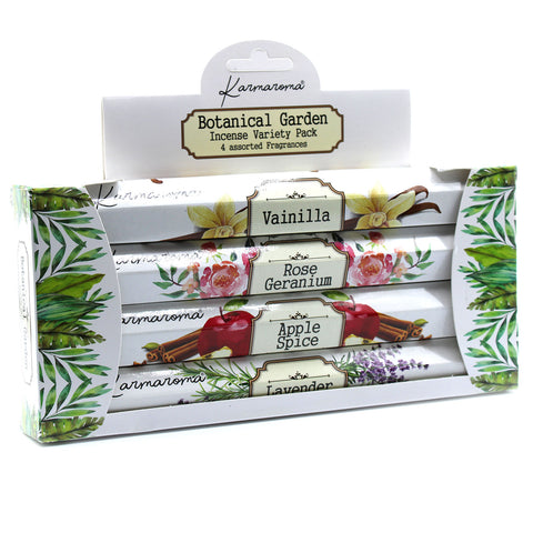 Botanical Garden Incense Gift Set - 4 Assorted Fragrances
