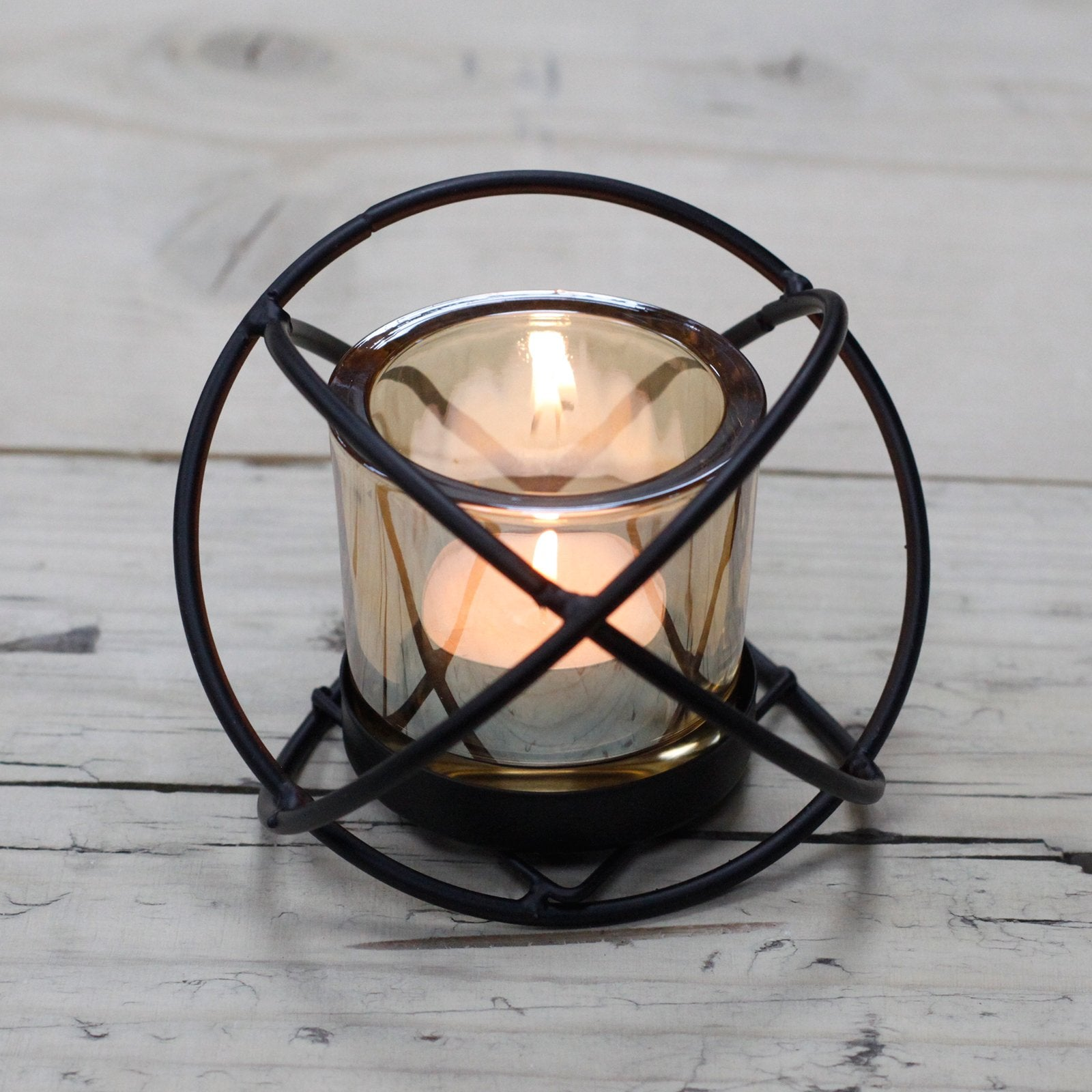 Iron Votive Candle Holder- Spiral - Divine Yoga Shop