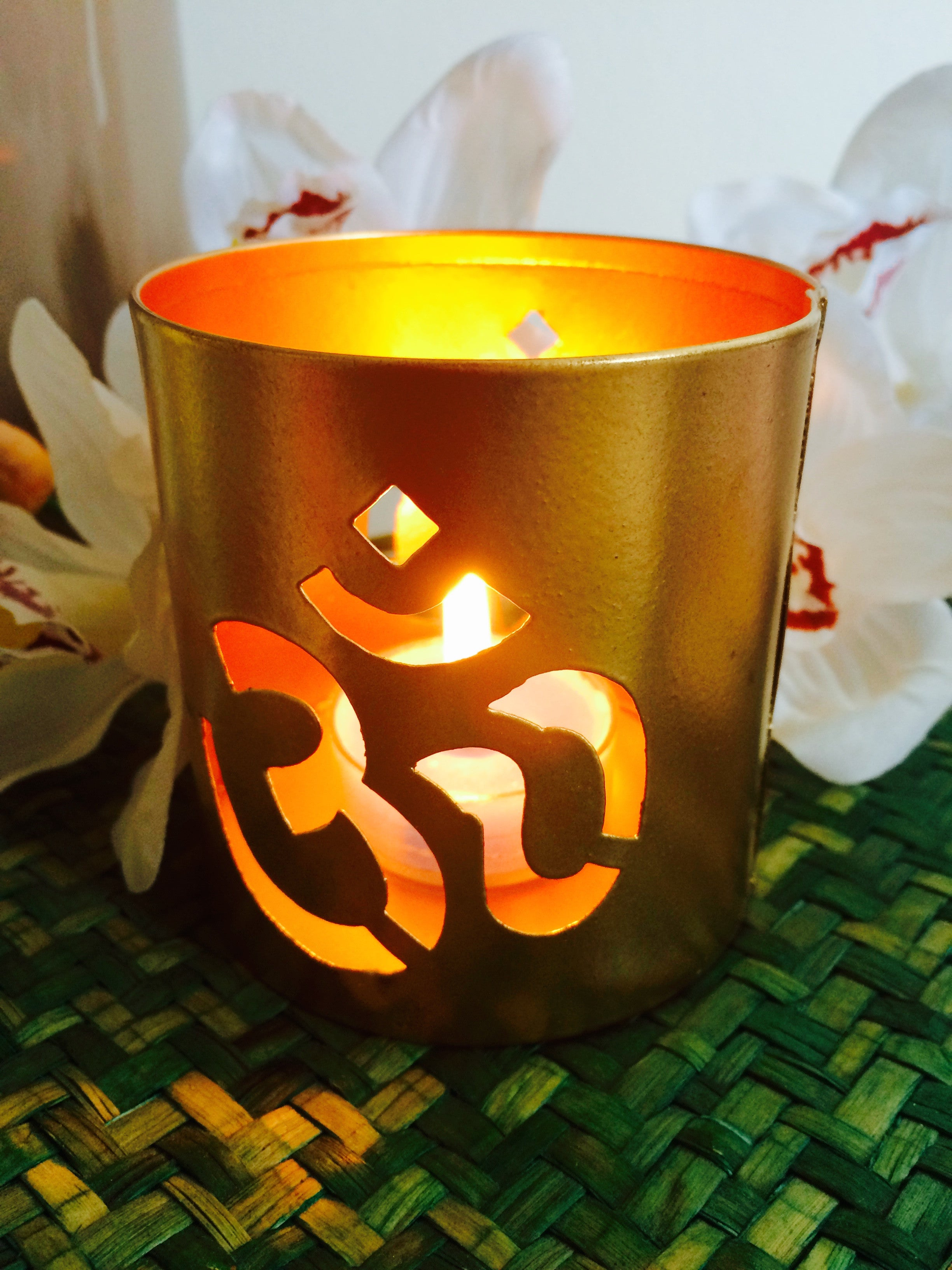 OM Tealight Candle Holder - Can be used as Meditation Tool