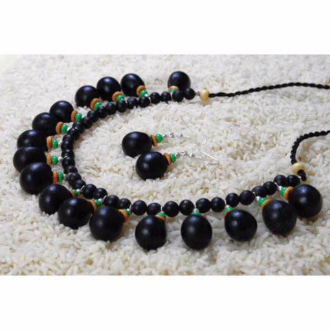 Eco-friendly Jewellery- Necklace Set (Green Eyed Dazzle) - Divine Yoga Shop