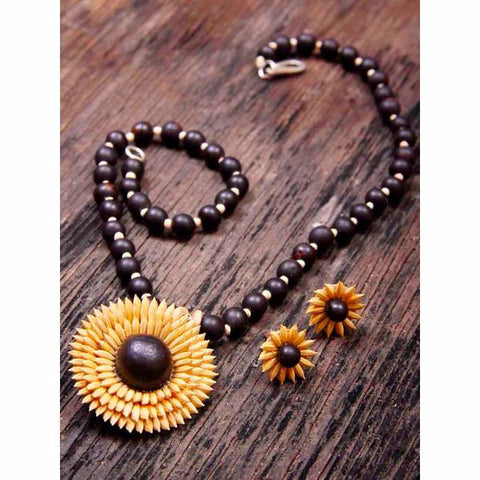 Eco-friendly Jewellery- Necklace Set (Starry Eyed) - Divine Yoga Shop