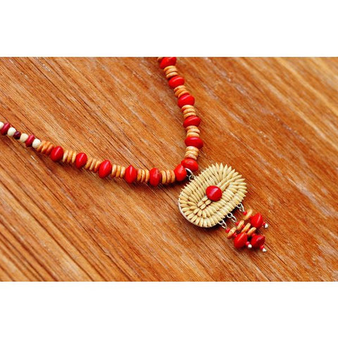 Harmony Red Elegantly Paddy Necklace - Divine Yoga Shop