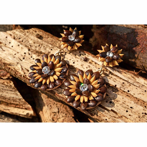 Sunflower Sparkle Earrings - Divine Yoga Shop