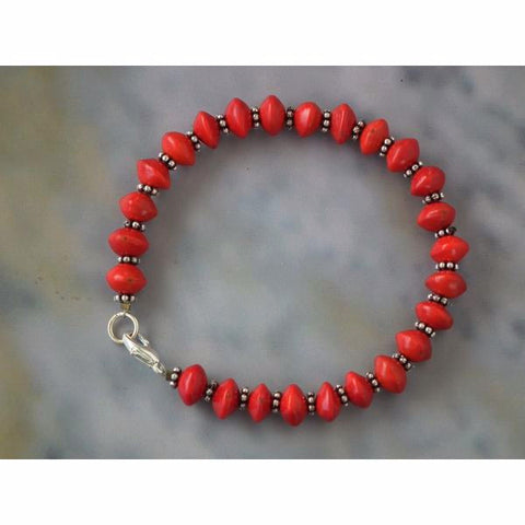 Fiery Red Bracelet Set - Divine Yoga Shop