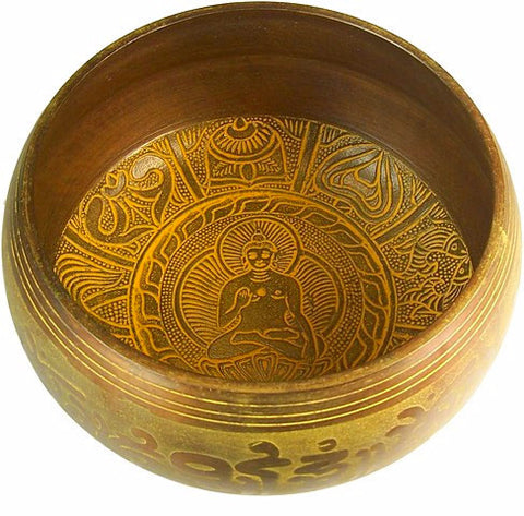 Extra loud One Buddha Singing Bowl - Divine Yoga Shop