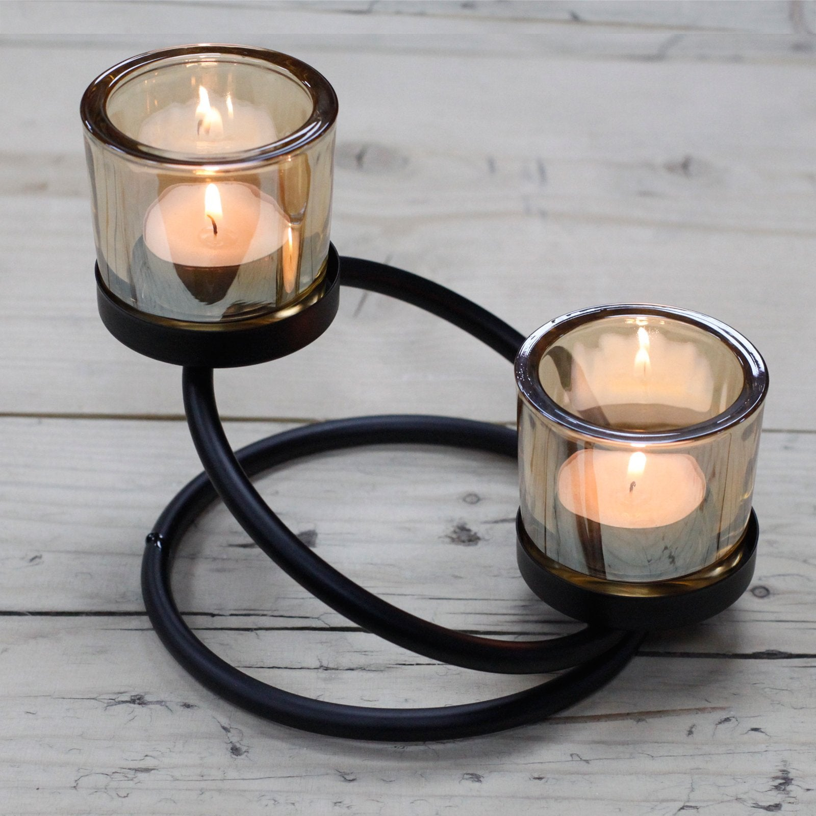 Tealight Candle Holder- Double Glass - Divine Yoga Shop