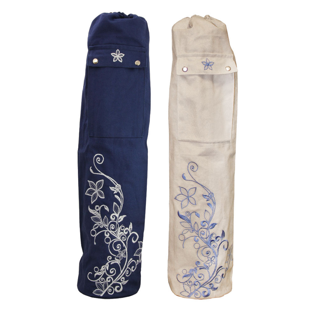 Cotton embroidered Yoga Mat Bag - Divine Yoga Shop