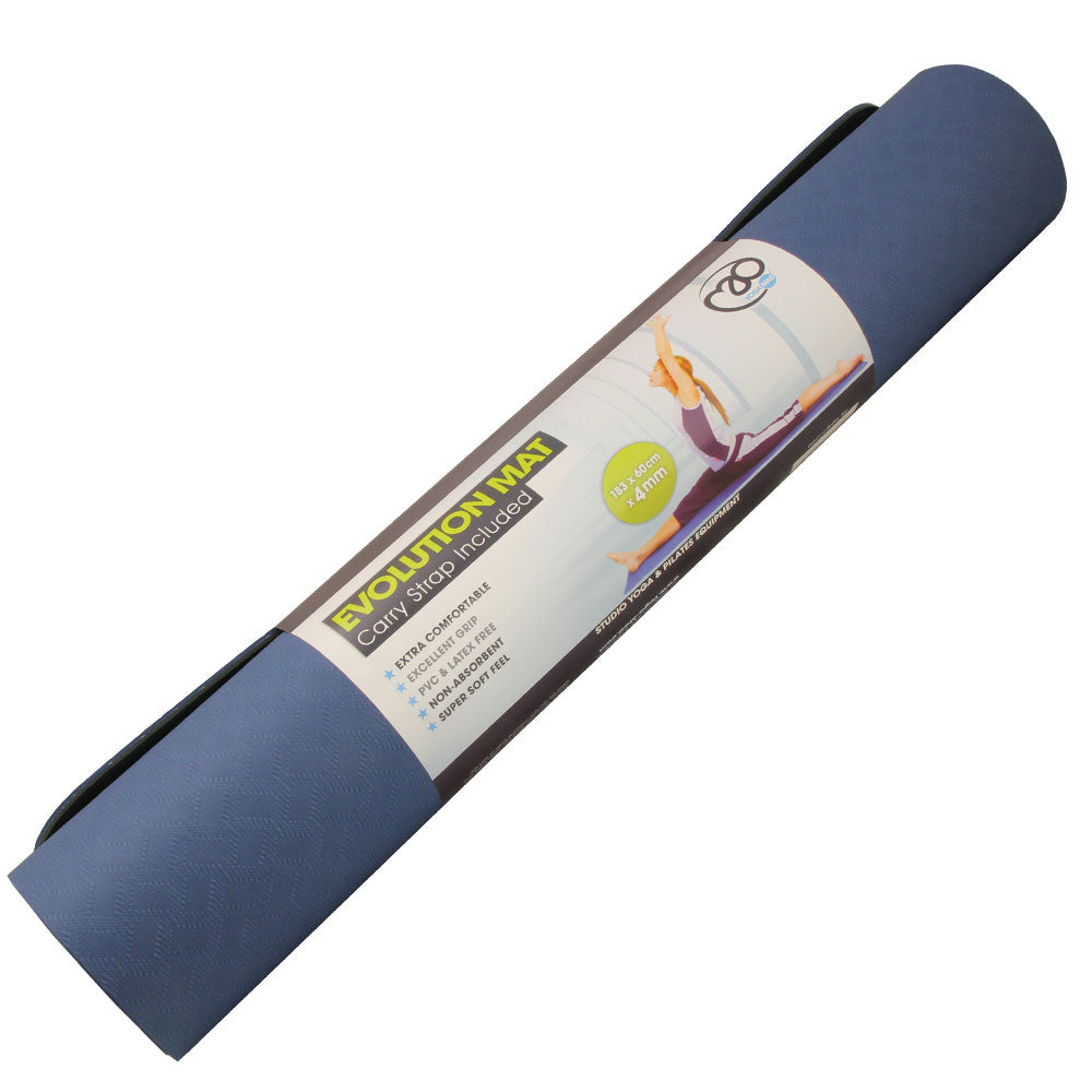 Evolution Yoga Mat 4mm with Carry String - Divine Yoga Shop