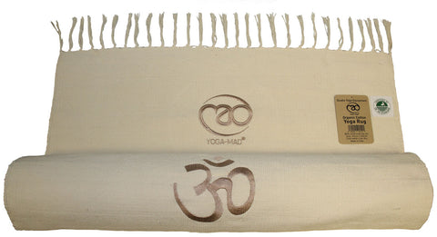 Organic Cotton Yoga Rug - Divine Yoga Shop