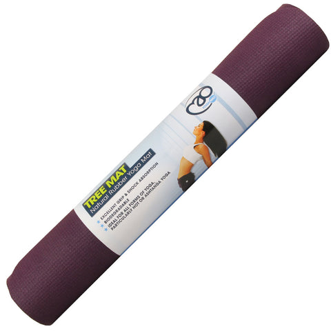 Tree Natural Rubber Yoga Mat 4mm - Divine Yoga Shop