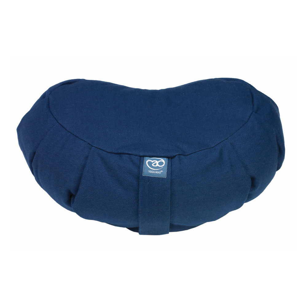 Pleated Crescent Zafu Buckwheat - Divine Yoga Shop