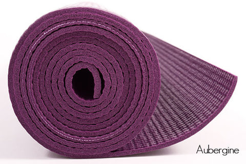 STICKY YOGA MATS Anti Skid & Shock Absorbing (Aubergine) - Divine Yoga Shop