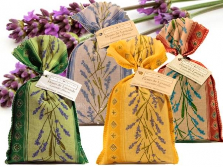 French Lavender- Authentic dried lavender flowers in colourful bags - Divine Yoga Shop